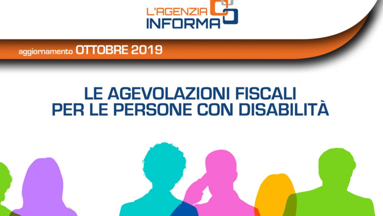 Agenzia Entrate nuova guida agevoalzioni fiscali disabili