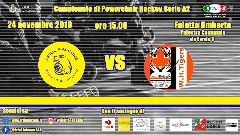 2019.11.24 Friul Falcons vs Tigers Bolzano