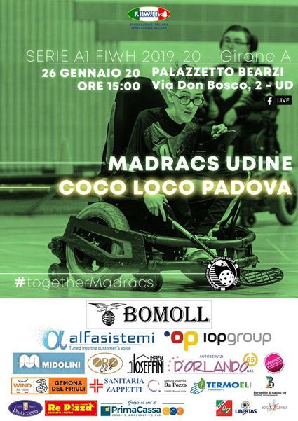 26.01.2020 Madracs Udine vs Cocoloco Padova