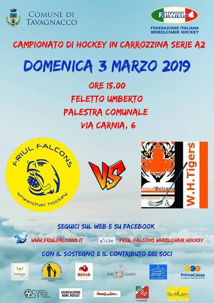 Friul Falcons vs Tigers Bolzano