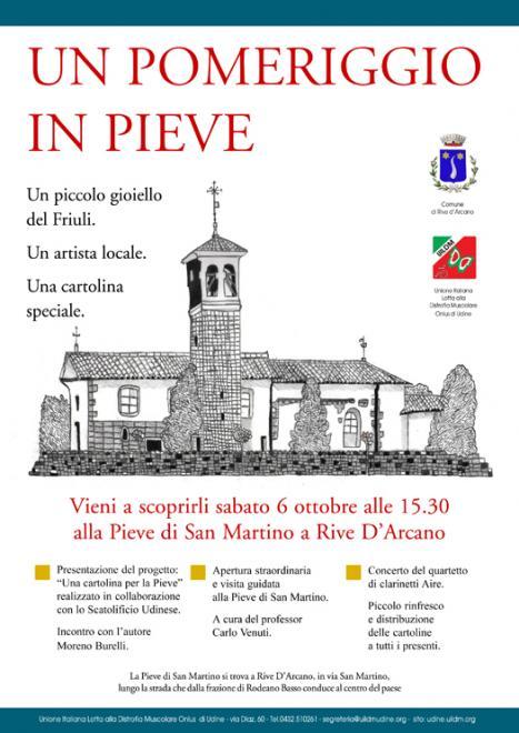 Un pomeriggio in Pieve - Sabato 6 ottobre UILDM a Rive D'Arcano