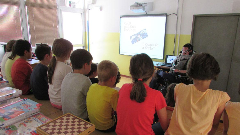 L'intervento di Moreno Burelli alla scuola primaria di Rive D'Arcano
