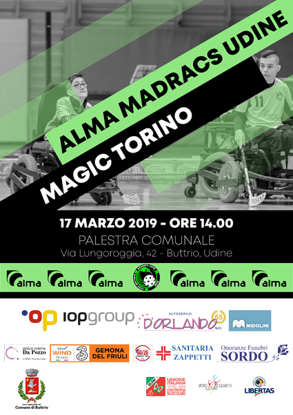 17 marzo: Alma Madracs vs Magic Torino