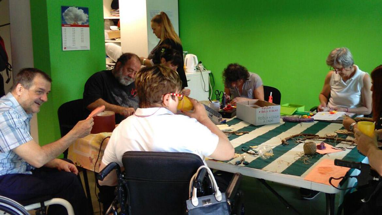 Il gruppo del laboratorio creativo UILDMal lavoro