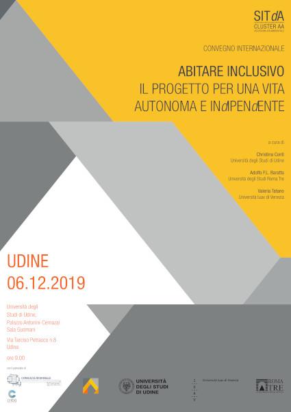 convegno internazionale abitare inclusivo, Udine, 6 dicembre, 2019