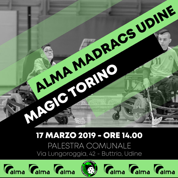 17 marzo: Alma Madracs vs Magic Torino