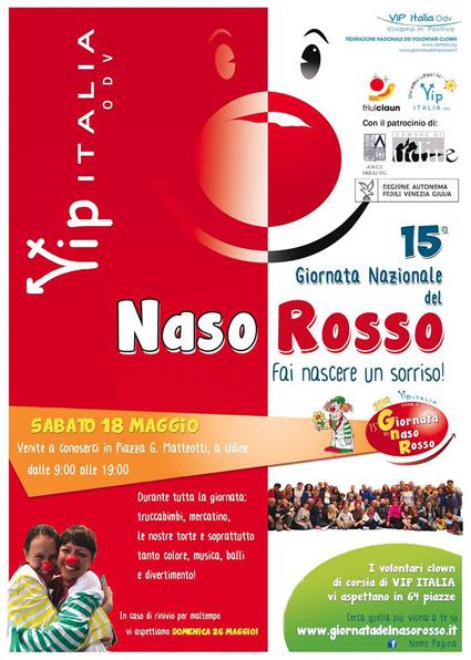 Giornata del naso rosso a Udine