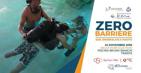 24 novembre Zero barriere a Trieste sub e nuoto per disabili