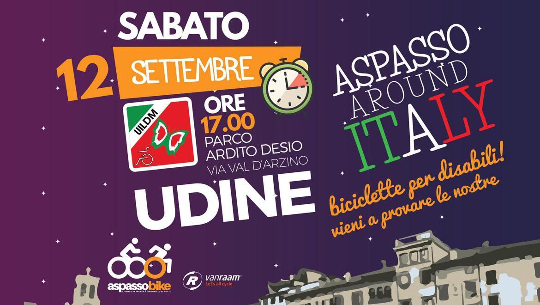 12 settembre - Parco Desio Udine ore 17 - Aspasso bike