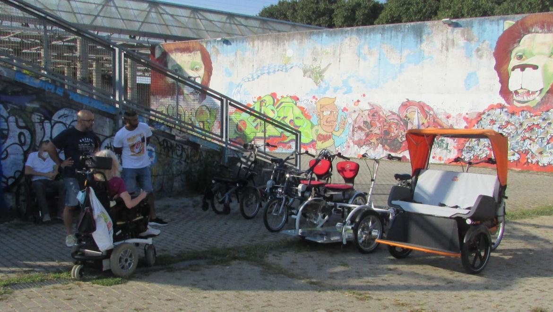 Le bici per disabili presentate a Udine